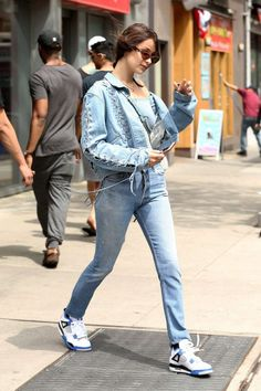 Bella Hadid in Jeans Leaving her apartment in NYC