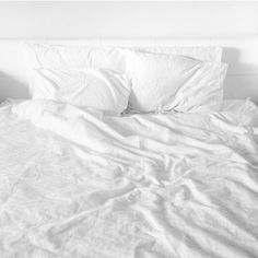 EQUATE TO: I would equate using dryer sheets to making my bed every morning. Like using dryer sheets, making my bed is a part of my routine that would throw me off if I didn't do it. White Bedding, Bedding Sets, Bedroom Inspo, Bedroom Decor, White Sheets, Bed Sets, Cozy Bed, White Aesthetic, All White