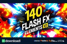 140 Flash FX Elements Free Download After Effects Templates