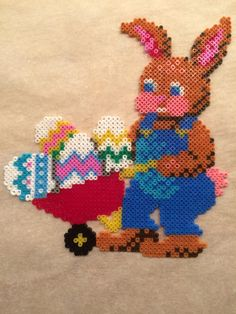 Easter bunny Hama mini perler by Julie Loose