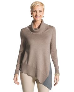 Chico's Giselle Colorblocked Sweater #chicos
