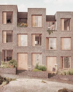 Interesting Find A Career In Architecture Ideas. Admirable Find A Career In Architecture Ideas. Brick Architecture, Architecture Graphics, Architecture Visualization, Concept Architecture, Residential Architecture, Boston Architecture, Habitat Collectif, Brickwork, House Design