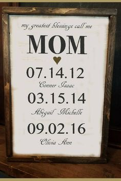 Would it be weird if I bought this for myself for Mother's Day? Mother's Day Personalized gift for Mom - Wife - Grandmother - Mothers - My Greatest Blessings Call Me Mom - Birthday - Valentine's - Gift idea, home decor, wall art, farmhouse sign, fa Personalized Gifts For Mom, Diy Gifts For Mom, Diy Mothers Day Gifts, Mothers Day Ideas, Mothers Day Decor, Mothersday Gift Ideas, Gift For Mother, Valentine Gifts For Mom, Handmade Gifts