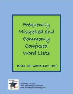 ... misspelled words (i.e. available, exercise, rhythm), and 150 commonly