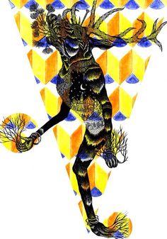 #art #artwork #illustration #deer #god #blackandwhite #horns #rise