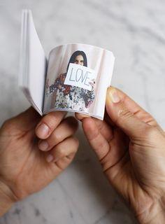Regalos manuales de amor: Flip book DIY para decir te quierou
