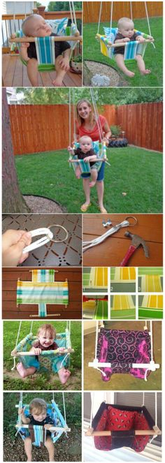 DIY Hammock-Type Baby Swing