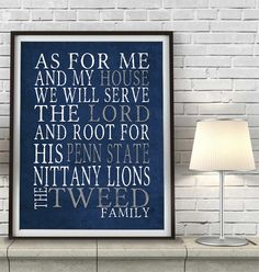 PERSONALIZED NAME Penn State University by SportsNationPrints
