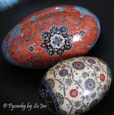 pysanka by So Jeo, Etsy...  The Fine Art of Batik Eggs.  You'll never find better quality!
