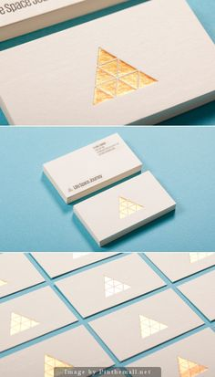 gold business cards #goldfoil #businesscards  Why the triangleS? Each piece needs to work together to hold strong.