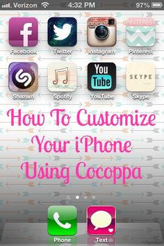How To Customize Your iPhone Using Cocoppa - WHAT JUST HAPPENED TO MY LIFE?!?! AMAZING! IT WAS LIKE SPRING CLEANING AND DECORATING MY PHONE!