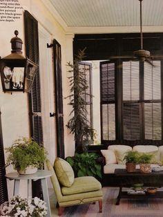 Porch shutters