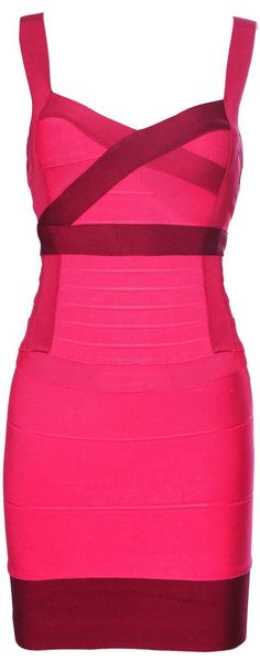 "The ""Leona"" Pink and Purple Bandage Dress. Made with high quality luxury bandage fabric. $146.00"