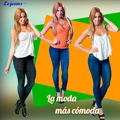 """Pack de 3 leggins con diseño de jeans.  Efecto """"Push UP"""" Up, Jeans, Style, Denim, Denim Pants, Denim Jeans"""