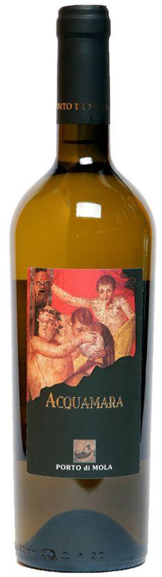 Acquamara - Fiano, Greco e Falanghina - Porto di Mola #naming #design #vino #etichette #packaging #concept