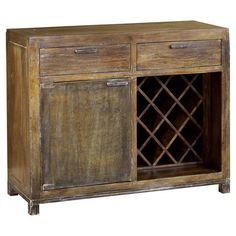 Crossed wine rack