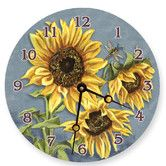 Found it at Wayfair - Tuscan Sunflowers Round Clock