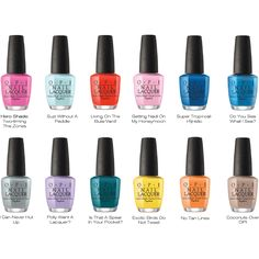 OPI Lacquer Spring 2017 Fiji Collection Set Of 12