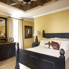 Yellow paint, black furniture. Pretty much love it all!