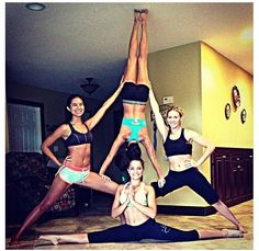 Yoga stunts-Gymnasts....you will have AMAZING fun!