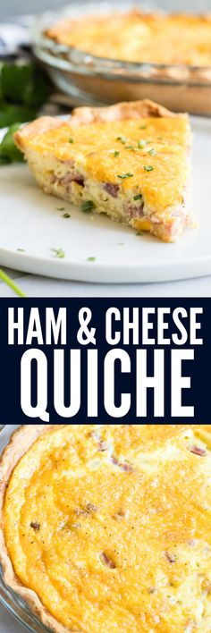 Ham and Cheese Quiche. The classic combination of ham and cheese is sure to make this quiche a new family favorite! Easy to put together, this dish is perfect for brunch, breakfast, or even dinner!