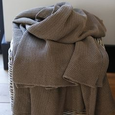 An elegant #throw, plain knit brown. www.rivingtoninteriors.com #Rivington Cable Knit Throw, Cosy, Plaid, Elegant, Knitting, Brown, Interior, Ideas, Fashion