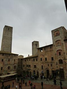 "Panorama, Camera di ""Hotel Leon Bianco"", San Gimignano Italia (Marzo)"