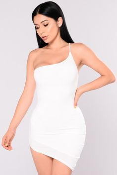 What's Your Sign Asymmetrical Dress - Ivory Club Dresses, Sexy Dresses, Nice Dresses, Fashion Dresses, Club Outfits For Women, Work Dresses For Women, Clothes For Women, Cute Casual Outfits, Stylish Outfits