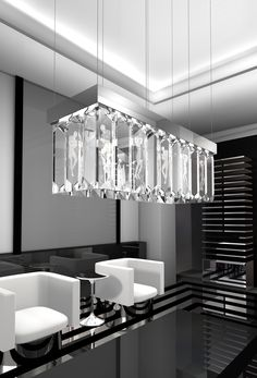 WINDFALL Chandeliers with Lalique - The SERENE