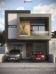 50 Amazing Minimalist Exterior House Design On A Budget House Front Design, Small House Design, Dream Home Design, Modern House Design, Villa Design, Facade Design, Exterior Design, Architecture Design, Cafe Exterior