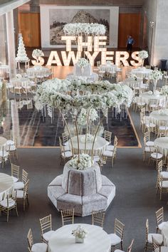 5 Questions to Help You Select the Perfect Wedding Venue | Custom marquee lights for a stunning all white wedding reception in Fort Worth, Texas | wedding planner: DFW Events | dfwevents.com