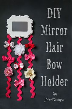 My little girl is only 2.5 months old....and she has more hair accessories than I do! Now how to organize all those cute bows? Amber from our awesome Creative Team, has a fab solution, a DIY mirror hair bow holder! This adorable bow holder is my new