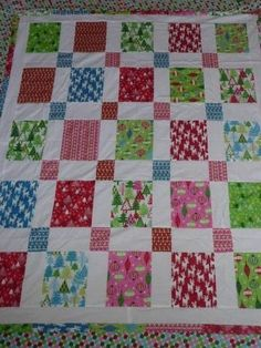 Here are the finished Christmas quilts, so far. Yes, they need to be quilted. Can I admit to a smidgen of nervousness associated with that p...