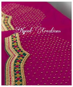 Cutwork Blouse Designs, Simple Blouse Designs, Embroidery Neck Designs, Bridal Blouse Designs, Blouse Neck Designs, Sleeve Designs, Hand Embroidery, Stone Work Blouse, Aari Work Blouse