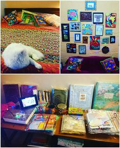 I believe in hobby table where you keep all your favorite things. Mine has stamp albums, genealogy and travel journals. It fills me up with so much love. Travel Journals, Stamp Collecting, So Much Love, Genealogy, Albums, Favorite Things, Table, Blog, Diy
