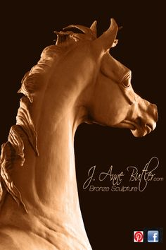 """http://www.arabianhorsesculpture.com/dream-of-spring.html DREAM OF SPRING ( in original clay - now available  in bronze )   160 cm (63 """") high This Arabian filly bronze sculpture from J. Anne Butler captures every  nuance of the perfect  Arabian horse. Enjoy this equine statue in the bronze patina colour of your choice."""
