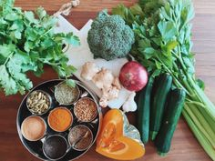 Ayurvedic Sunshine Detox Soup. I also just love the way these spices are stored..