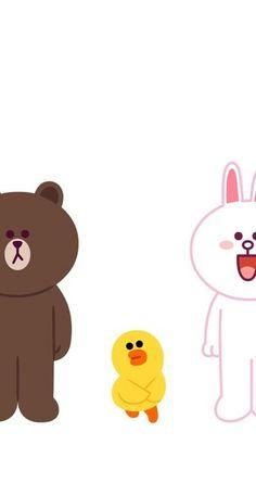 堆糖-美好生活研究所 Line Cony, Cony Brown, Line Friends, Line Illustration, Cute Cards, Iphone Wallpaper, Kawaii, Fan Art, Cartoon