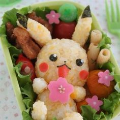 Japanese Food Art - pikachu bento c: Cute Food, Good Food, Yummy Food, Awesome Food, Healthy Food, Healthy Recipes, Bento Kawaii, Japanese Food Art, Japanese Candy