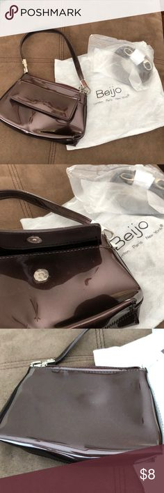 Beijo Small Purse/Wristlet Beijo Small Purse/Wristlet, shiny brown, barely used. Beijo Bags Clutches & Wristlets
