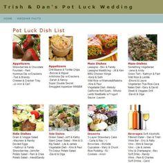 potluck wedding | Tumblr