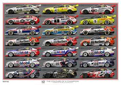 Print 104 'Colours of a Champion' Holden Muscle Cars, Aussie Muscle Cars, Australian V8 Supercars, Car Prints, Holden Commodore, Car Posters, Car Tuning, Car Wrap, Cars Motorcycles