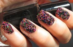 crazy caviar nails! fun and silly, who cares if it's impractical, it's awesome!
