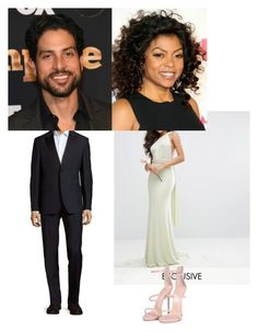 """✨taraji & adam✨are going to the wedding."" by geazybxtch24 ❤ liked on Polyvore featuring interior, interiors, interior design, home, home decor, interior decorating, TFNC, Valentino, ADAM and Giuseppe Zanotti"