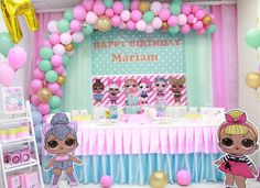 """NoorLand Play & Party Area on Instagram: """"H A P P Y . B I R T H D A Y  .  M A R I A M  . . . . . . #Theme #lol_surprise #lolsurprise #lolsurpriseparty #lolsurprisedolls…"""""""