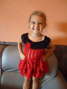 * Pérolas do Crochet: Vestidinho de croche - Joaninha Filomena
