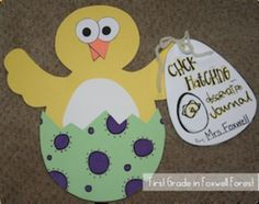 Hatching Chicks {A Spring Craftivity} with 6 options for books/writing
