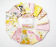 Vintage sheets in fat quarter packs from Vintage Fabric Studio. Our fat quarter bundles are little pieces from the past. Memories of your favorite Sunday skirt paired with little white gloves and the pink canopy bed your best friend had growing up; sewing with …