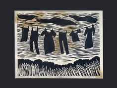 Untitled original linocut by NicolaBarsaleau on Etsy, $35.00