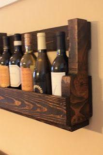 pallet wine rack - diy